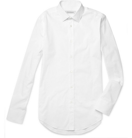 Yves Saint Laurent Slim-Fit Cotton-Blend Shirt