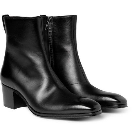 Yves Saint Laurent Johnny Leather Ankle Boots