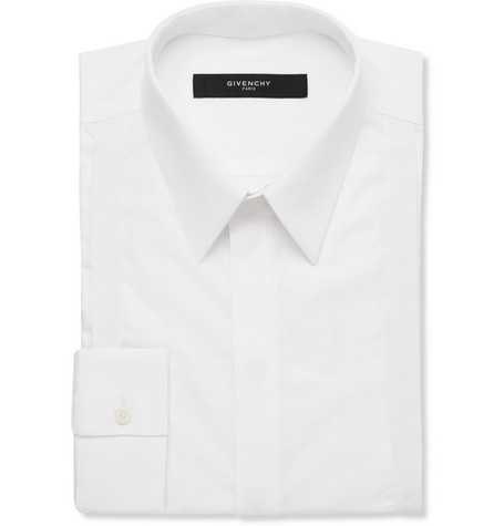 Givenchy Grosgrain-Bib Cotton Shirt