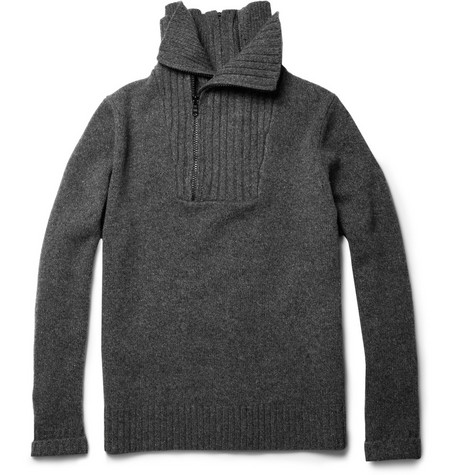 Givenchy Zipped Wool and Cashmere-Blend Sweater