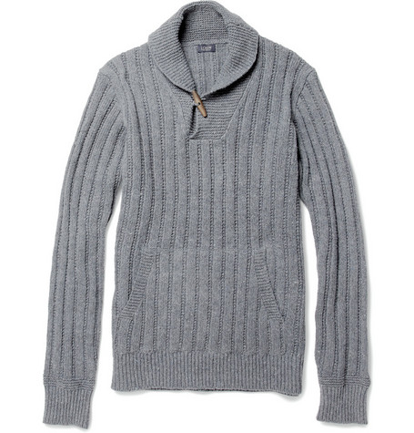 J.Crew Shawl-Collar Cotton-Blend Sweater