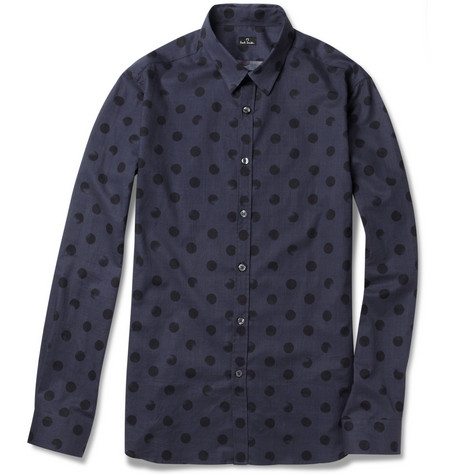 PS by Paul Smith Dot-Print Slim-Fit Cotton Shirt
