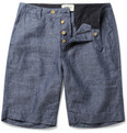 YMC Straight-Leg Linen-Chambray Shorts