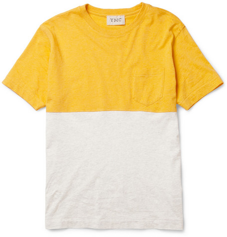 YMC Two-Tone Cotton T-Shirt