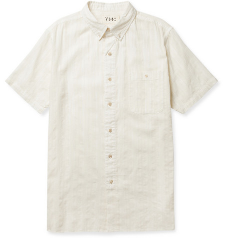 YMC Button-Down Collar Cotton-Dobby Shirt