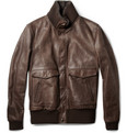 Dolce & Gabbana - Shearling-Collar Leather Bomber Jacket