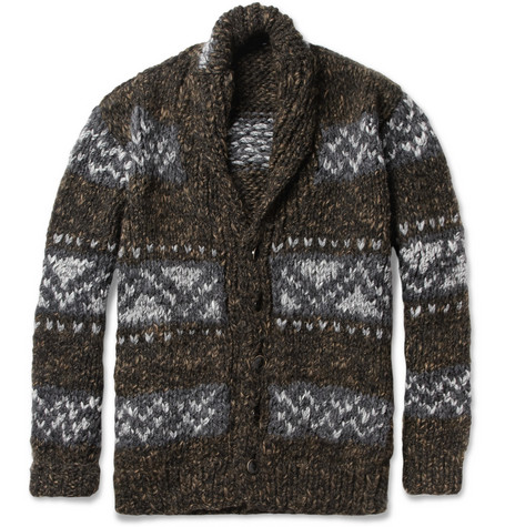 Dolce & Gabbana Chunky-Knit Oversized Wool-Blend Cardigan