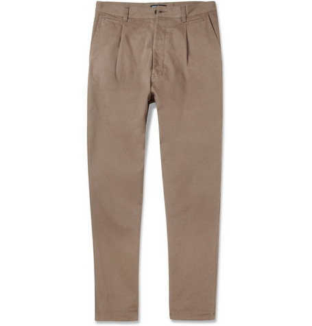 Dolce & Gabbana Pleated Drop-Crotch Cotton Trousers