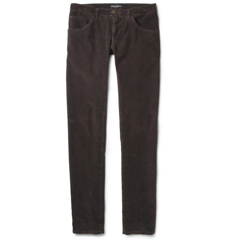 Dolce & Gabbana Slim-Fit Corduroy Trousers