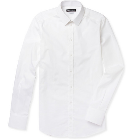 Dolce & Gabbana Slim-Fit Stretch-Cotton Shirt