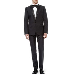 Dolce & Gabbana Black Martini Wool and Silk-Blend Tuxedo Jacket