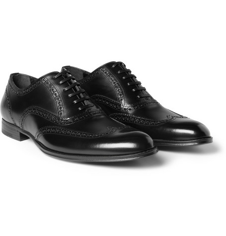 Dolce & Gabbana High-Shine Leather Wingtip Brogues
