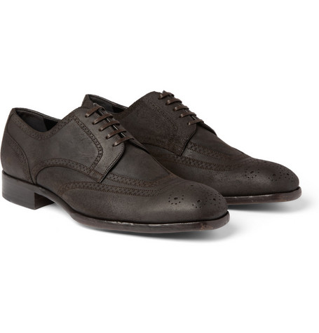 Dolce & Gabbana Washed-Suede Brogues