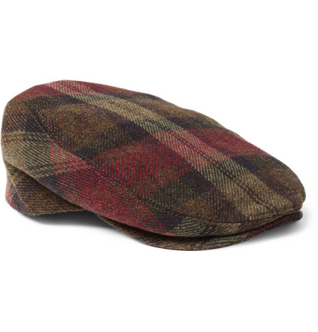 Dolce & Gabbana Plaid Wool Flat Cap