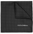 Dolce & Gabbana Pin Dot Silk Pocket Square