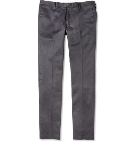 Paul Smith Slim-Fit Cotton-Blend Trousers