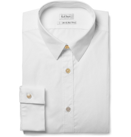 Paul Smith Pointed Collar Cotton-Poplin Shirt