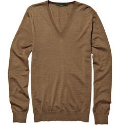 Gucci V-Neck Merino Wool Sweater