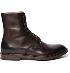Gucci Side Zip Leather Boots
