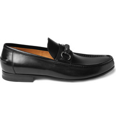 Gucci Leather Bamboo Horsebit Loafers