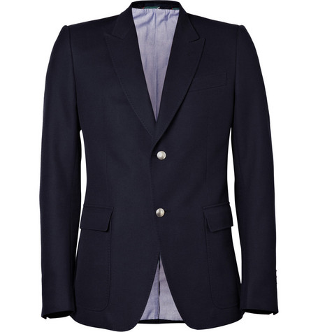 Gucci Single-Breasted Peak Lapel Blazer