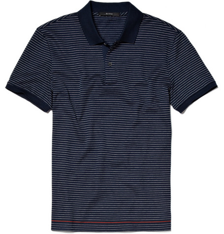Gucci Striped Cotton Polo Shirt