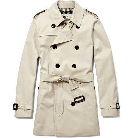 Burberry London Britton Short Double-Breasted Trench Coat