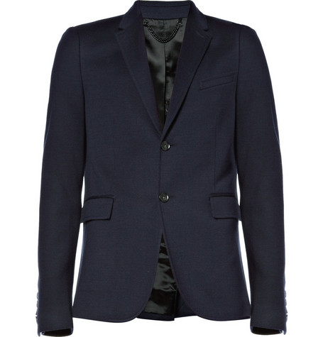 Burberry Prorsum Single-Breasted Notch Lapel Blazer