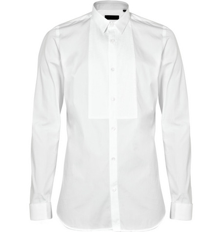 Burberry Prorsum Slim Pleated Bib-Front Shirt