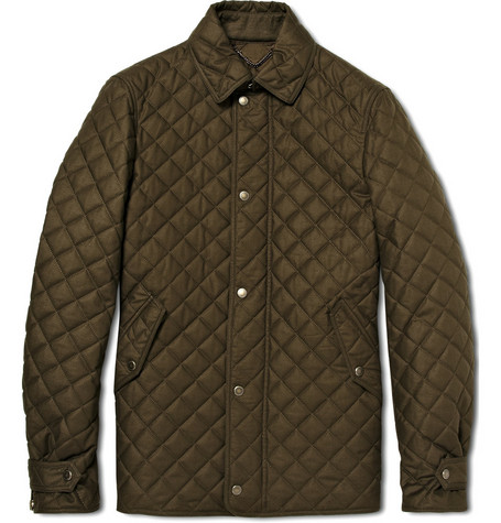 Burberry Prorsum Quilted Military Jacket
