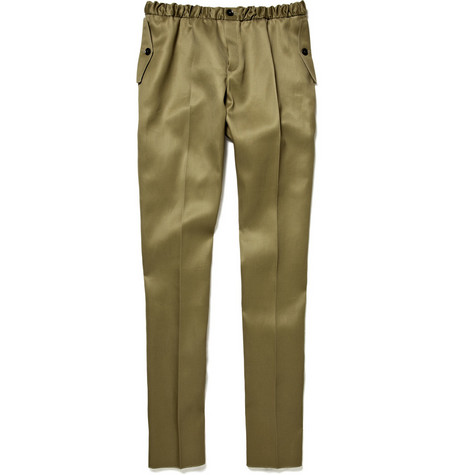 Burberry Prorsum Cotton Gabardine Trousers