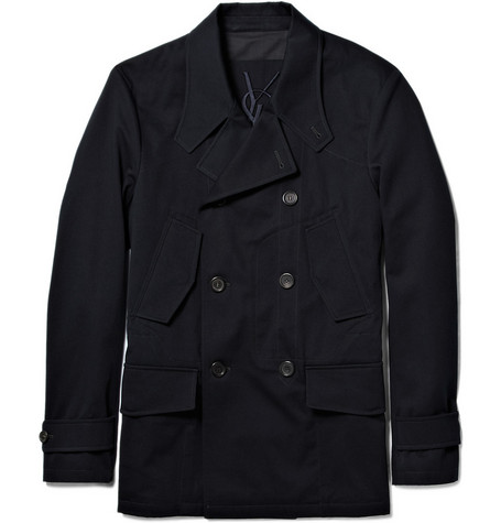 Yves Saint Laurent Double-Breasted Pea Coat