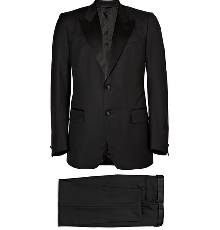 Yves Saint Laurent Single-Breasted Wool Tuxedo