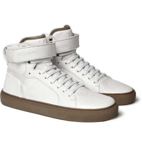 Yves Saint Laurent Leather High Top Sneakers