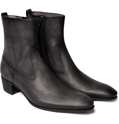 Yves Saint Laurent Cuban Heel Boots