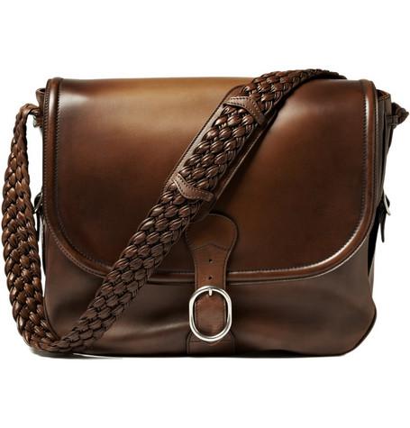 GucciLarge Leather Messenger Bag