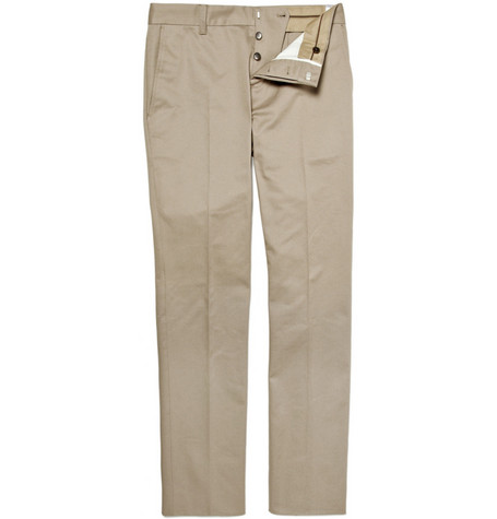 Gucci Slim Fit Cotton Trousers