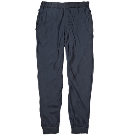 Lanvin Relaxed Fit Silk Trousers