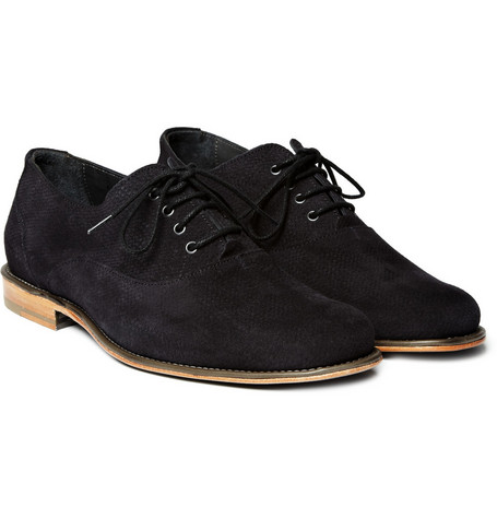 Lanvin Textured Suede Derby Shoes