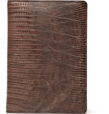 Lanvin Lizard Passport Holder