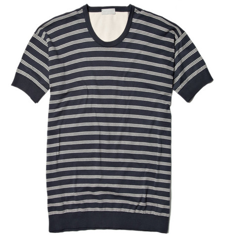 Margaret Howell Knitted Striped T-Shirt