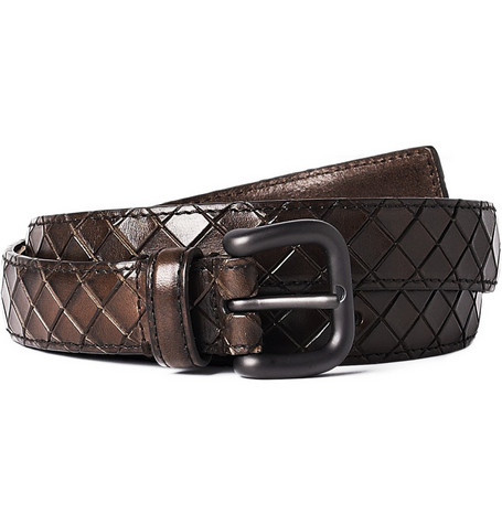 Bottega Veneta Embossed Leather Belt