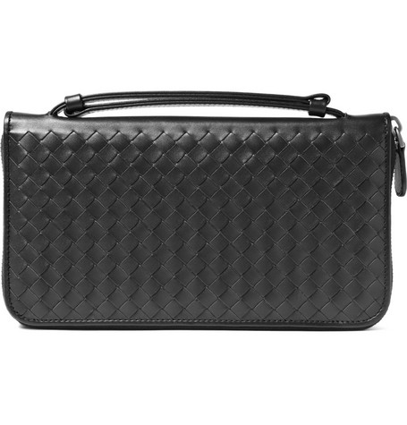Bottega Veneta Leather Travel Wallet