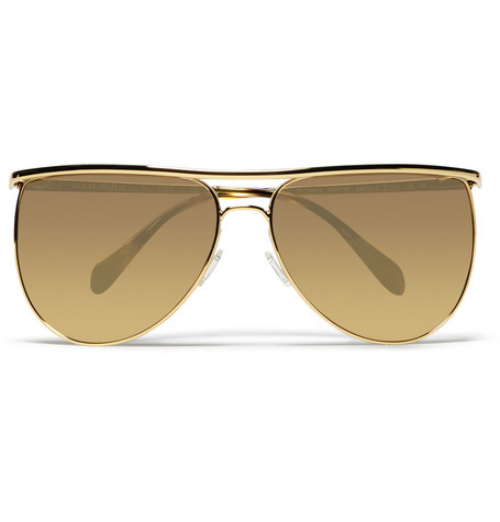 Balmain Metal Framed Aviator Sunglasses