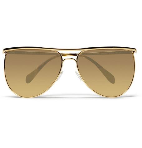 Balmain Metal Framed Aviator Sunglasses