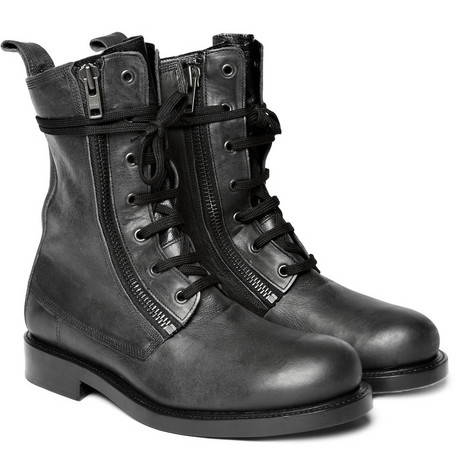 Balmain Side Zip Leather Boots