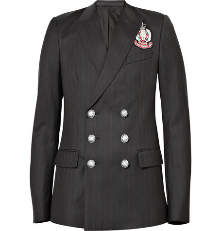 Balmain Double-Breasted Emblem Blazer