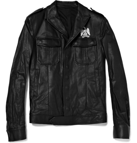 Balmain Leather Flight Jacket