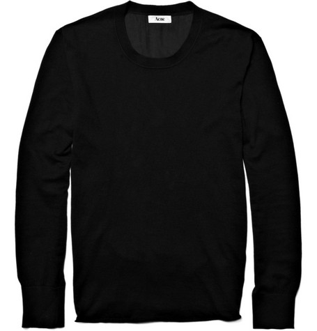 Acne Beagle Cotton-Blend Silk Backed Sweater