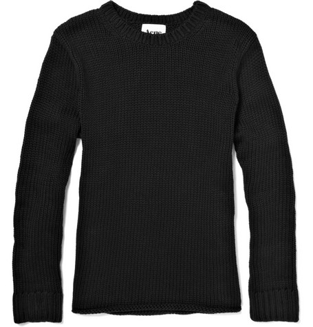Acne Chunky Knit Cotton Fisherman Sweater